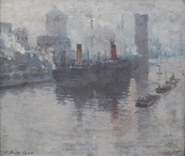 Manchester, kanał portowy, 1908