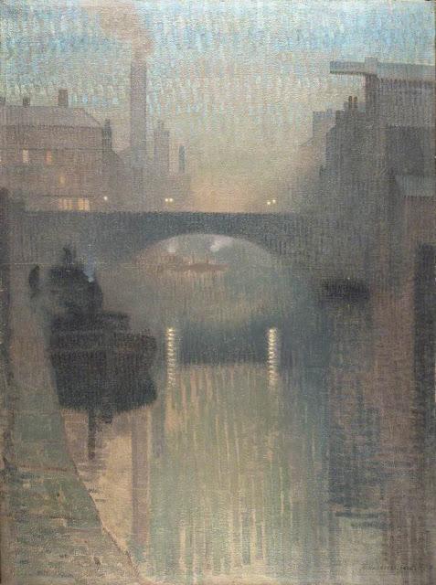 1912+Bailey+Bridge,+Manchester+oil+on+jute+155+x+115+cm+Manchester+City+Galleries+UK