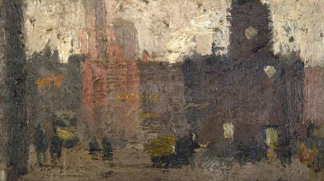 1912+Castlegate,+Salford++oil+on+canvas+Manchester+City+Galleries+UK