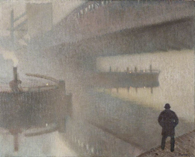 1912+Under+Windsor+Bridge+on+the+Irwell,+Manchester+oil+on+jute+48.2+x+61+cm+Manchester+City+Galleri…