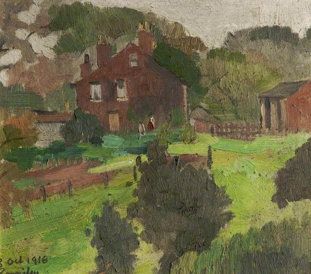 1916+Romiley+oil+on+board+13.5+x+15+cm+University+of+Salford+UK