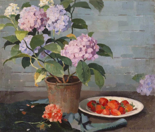 1917+Flowers+and+Fruit+oil+on+canvas+49.8+x+58.8+cm+Manchester+City+Galleries+UK