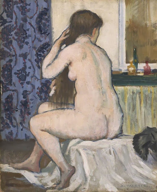 Girl+at+her+Toilet+oil+on+millboard+40.1+x+32.3+cm+Manchester+City+Galleries+UK
