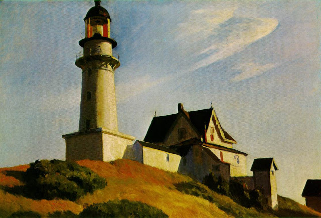 The Lighthouse at Two Light, 1929