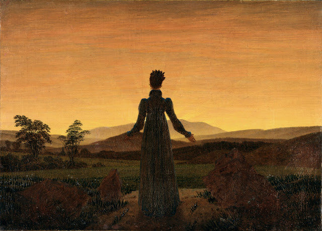 c. 1818, Woman in front of the setting sun