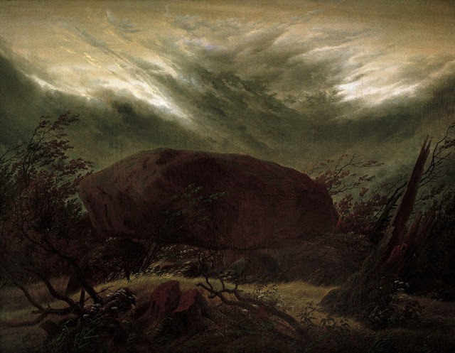 1820, Megalithic tomb in Autumn