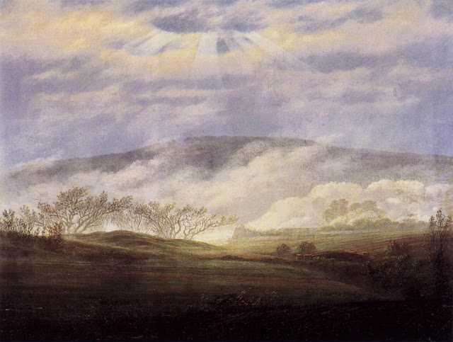 1821, Fog in the Elbe Valley