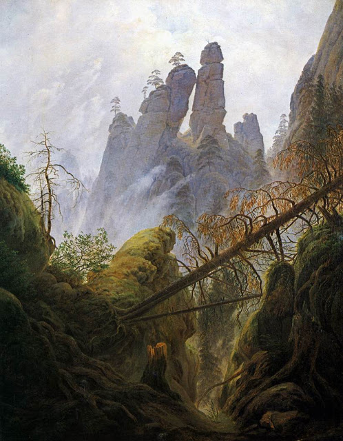 1822-23, Rocky landscape in the Elbe Sandstone Mountains