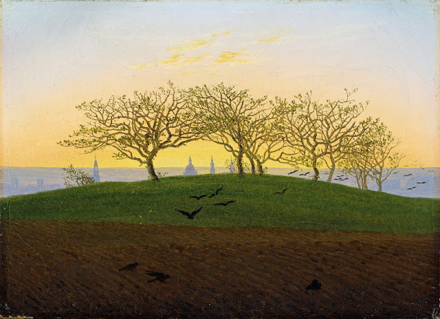 c. 1824, Hill and Ploughed Field near Dresden