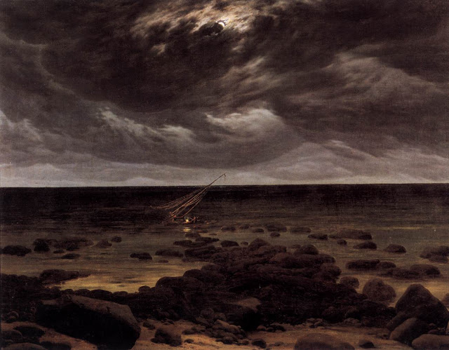 1825-30, Seashore with Shipwreck by Moonlight