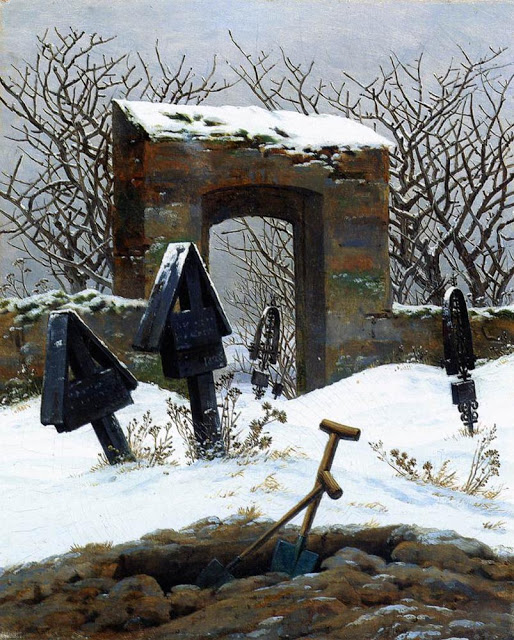 1826, Graveyard in the Snow
