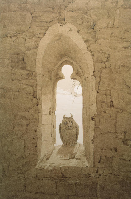1836, Owl in a Gothic Window