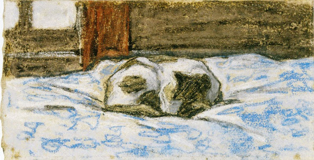 Cat Sleeping on a Bed, ok. 1865-70