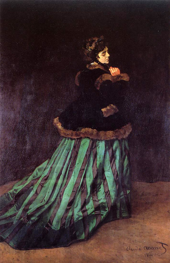 The Woman in a Green Dress (Camille Monet), 1866
