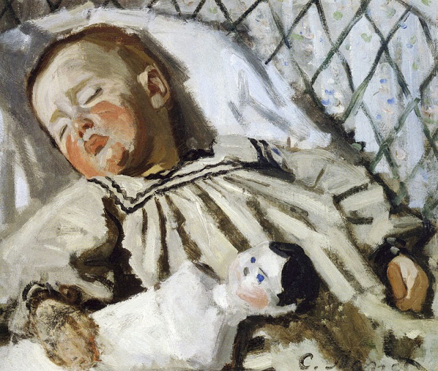 Jean Monet asleep, 1868