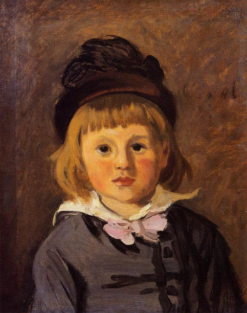 Portrait Jean Monet Wearing a Hat with a Pompom, 1869
