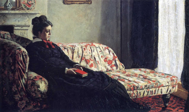 Meditation Madame Monet Sitting on a Sofa 1870-71