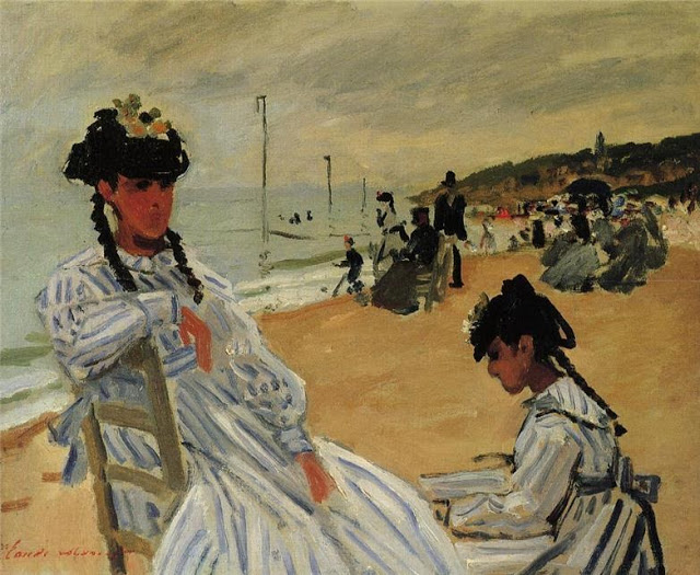 On The Beach At Trouville, 1870-71