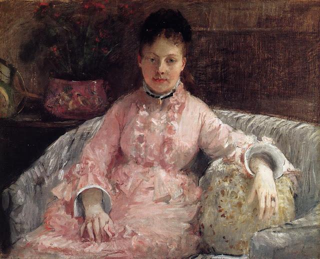 Różowa suknia, 1870