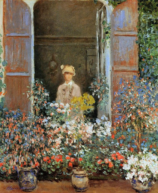 Camille Monet at the Window Argentuile, 1873