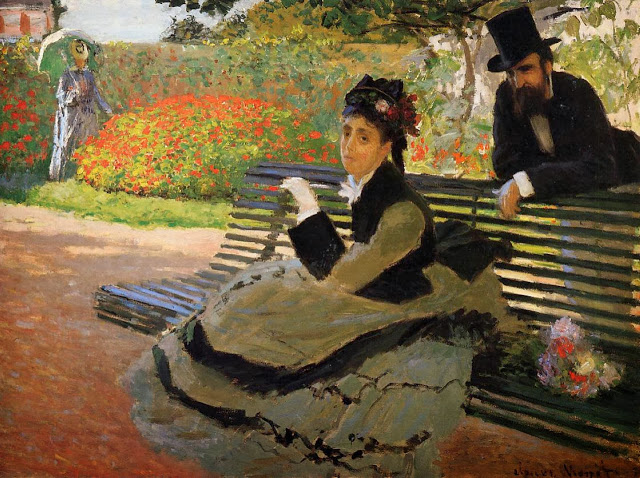 Camille Monet on a Garden Bench, 1873