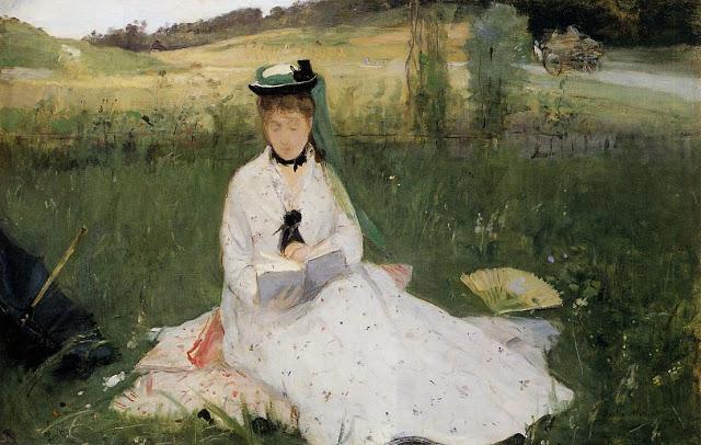 Czytająca z zieloną parasolką, 1873