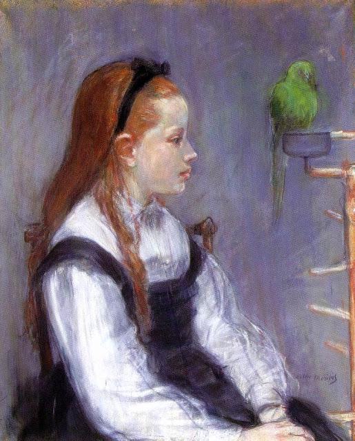 Młoda dziewcznka z papugą, 1873