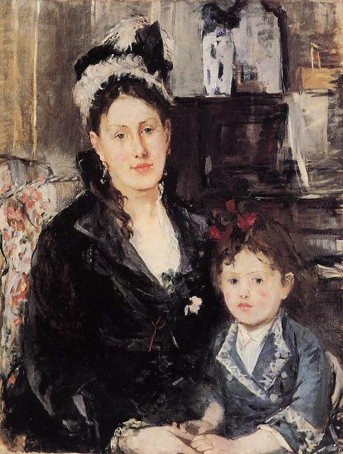 Pani Boursier i jej córka, 1874