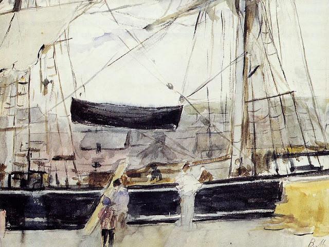 Statek w porcie, 1875