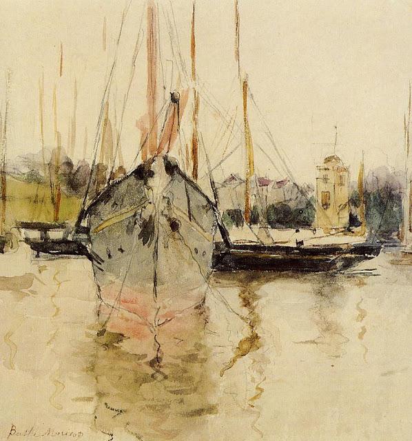 Wejście statków do portu, 1875