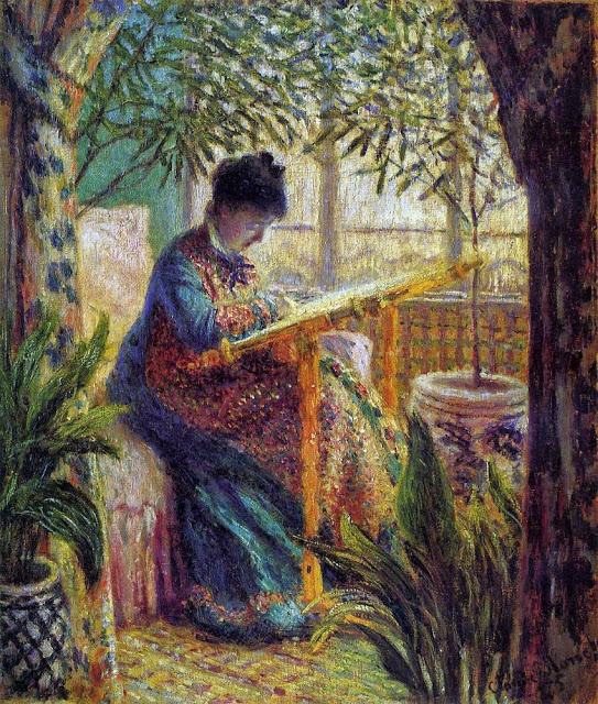 Camille Embroidering, 1875