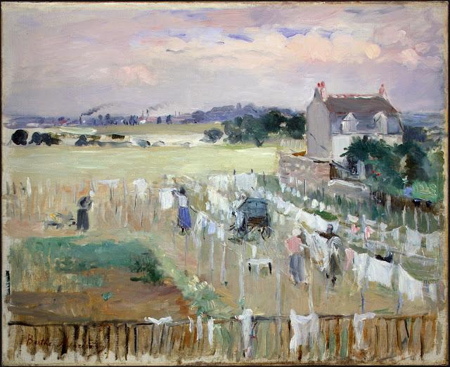 Wiszące pranie, 1875