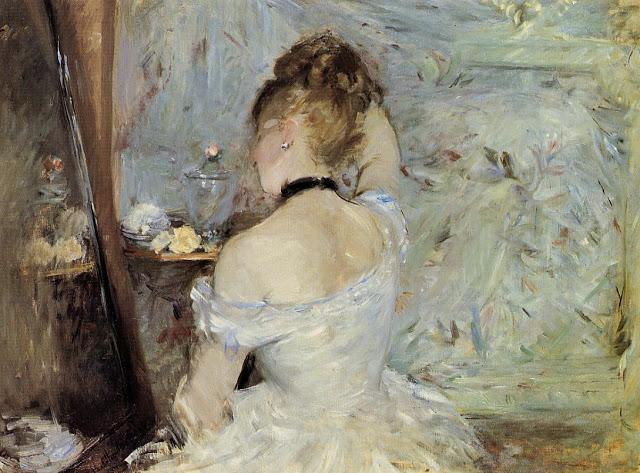 Kobieta w czasie toalety, 1875-1880