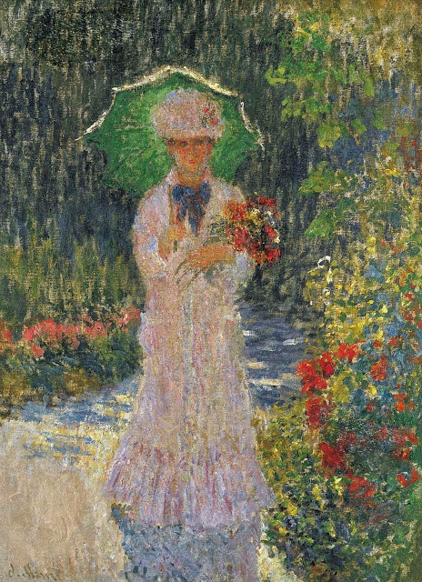 Camille with Green Parasol, 1876