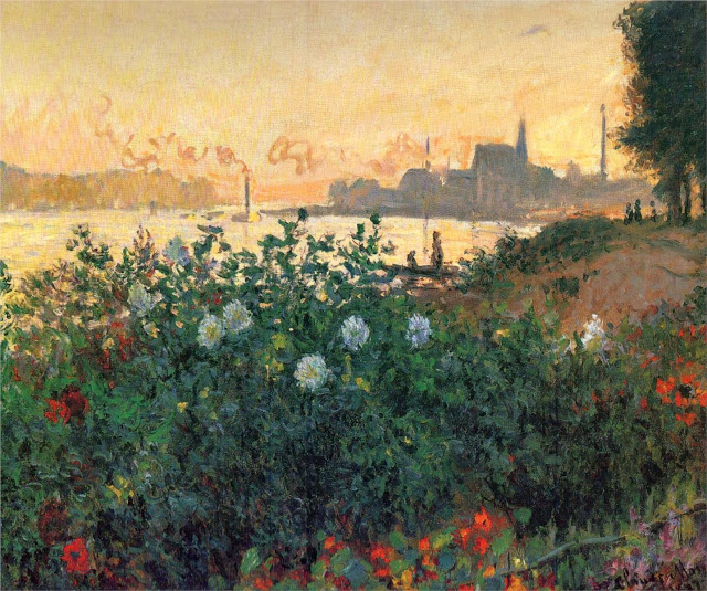 Argenteuil Flowers by the Riverbank, 1877