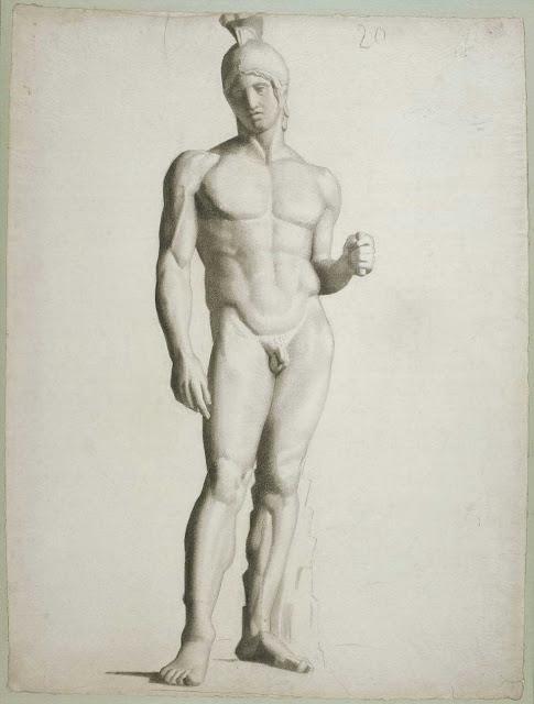 Georges Seurat Helmeted warrior, 1877-78