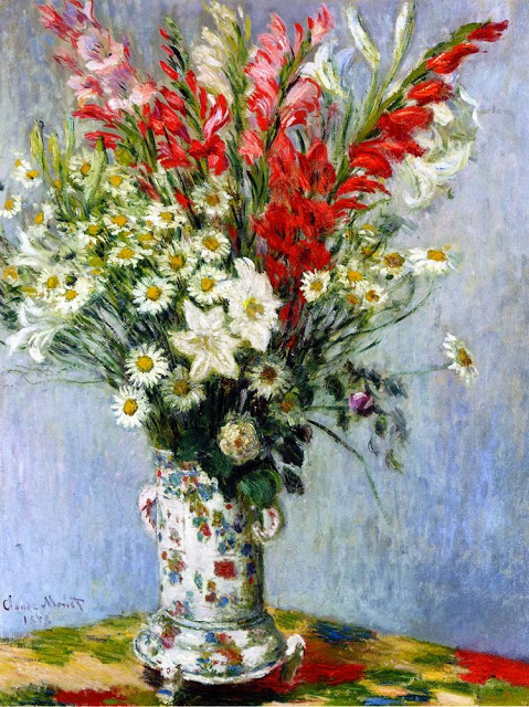 Bouquet of Gladiolas, Lilies and Daisies, 1878