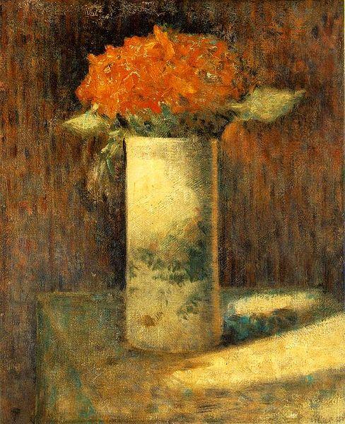 Georges Seurat Flowers in a Vase, 1880
