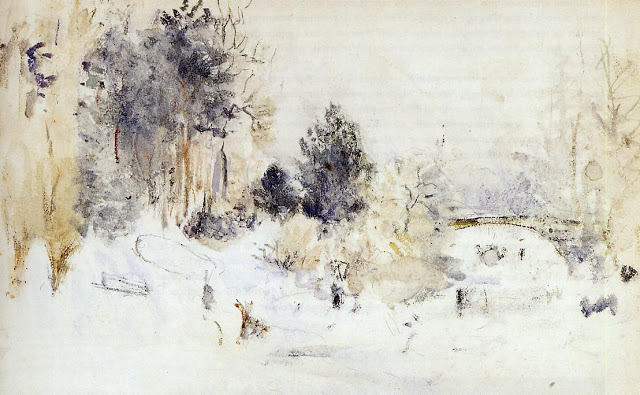 Śnieżny pejzaż, 1880