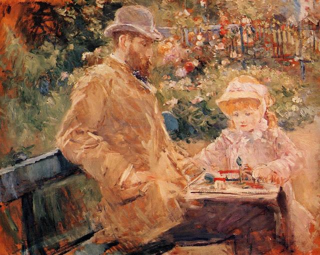 Eugene Manet z córką, 1881
