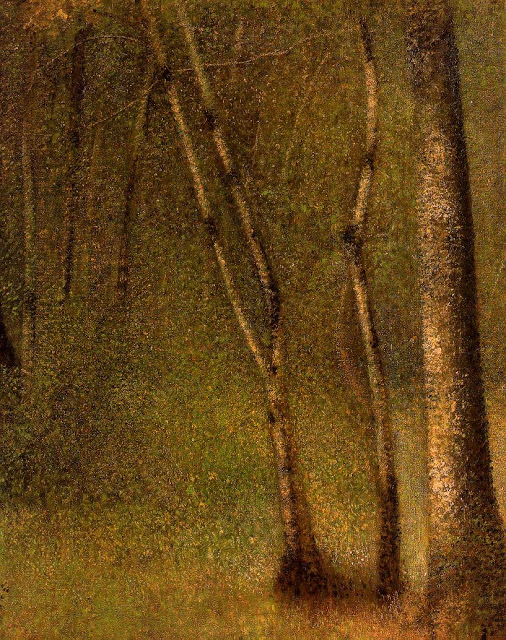 Georges Seurat Forest at pontaubert, 1881