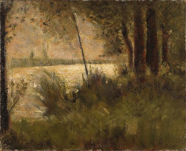 Georges Seurat Grassy riverbank, 1881-82