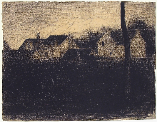Georges Seurat Landscape with houses, 1881-82