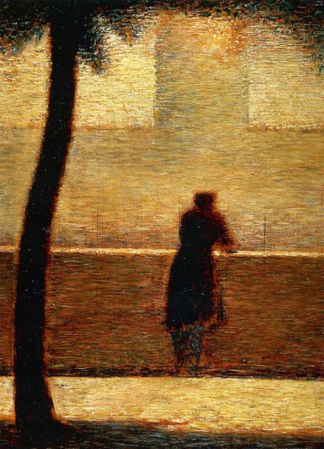 Georges Seurat Man on the parapet, 1881-82