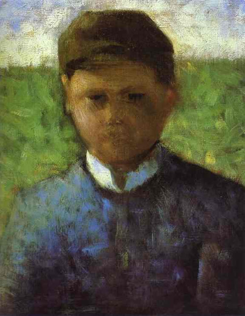 Georges Seurat Young peasant in blue, 1881-82