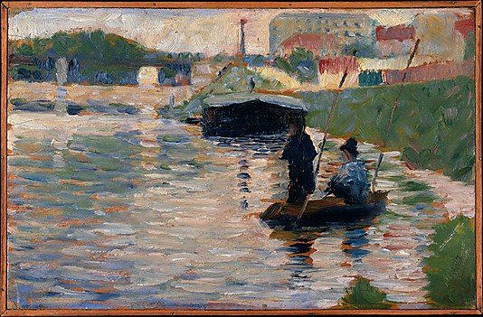 Georges Seurat View of the seine, 1882-83