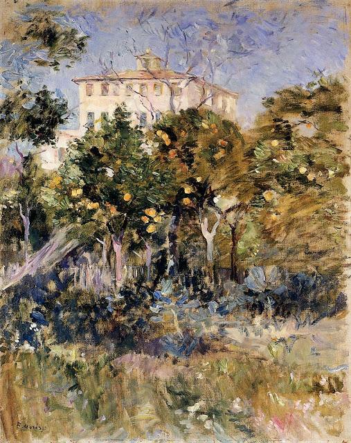 Willa z pomarańczowymi drzewami, 1882