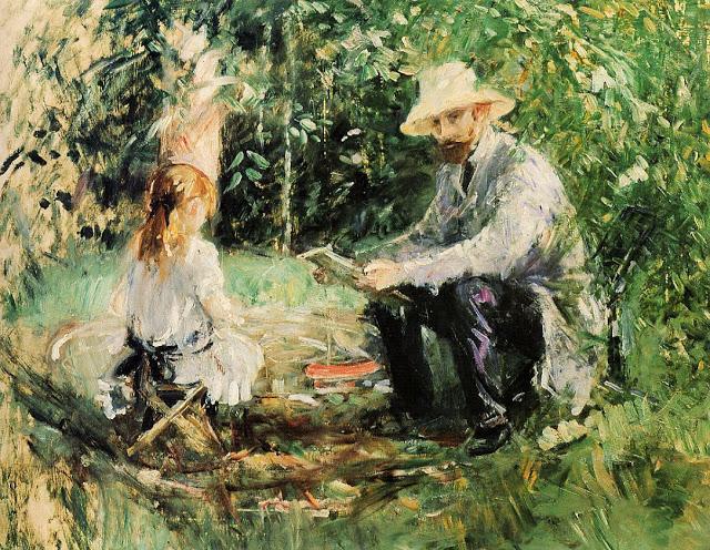 Eugene Manet z córką, 1883