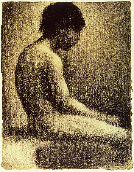 Georges Seurat Seated nude, 1883
