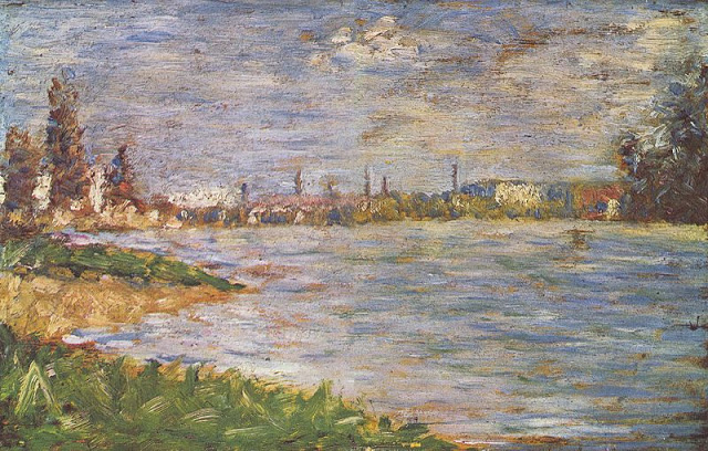 Georges Seurat Two banks, c. 1883